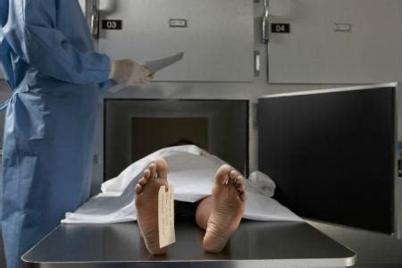 mortuary man holding severed head found on a mobile tnt