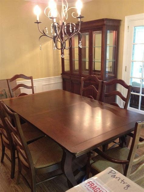 national of mount airy 9 dining room set cherry