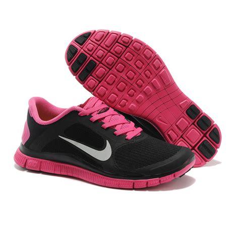 black and pink nike sneakers nike running shoes black pink