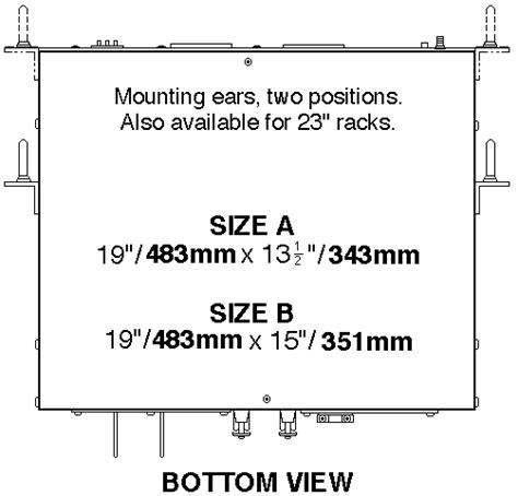 Rack Mount Dimensions by Kepco Inc Series Tbc Outline Dimensions Rack Mount Models