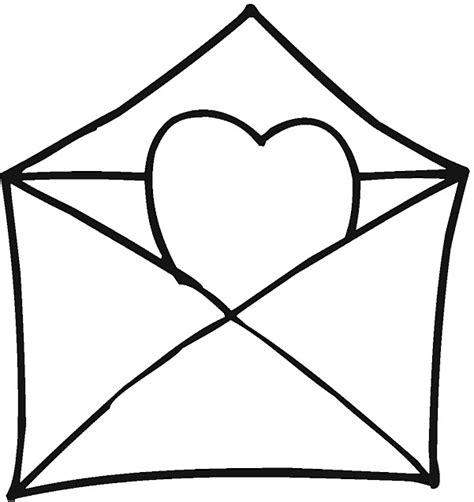 printable heart envelope printable valentine hearts coloring pages
