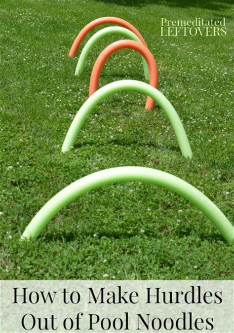 how to make a pool noodle obstacle course for kids