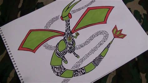 tribal pokemon drawing flygon tattoo design speed