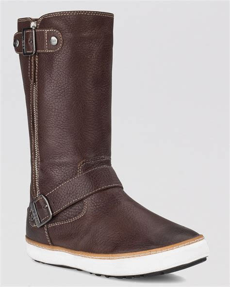 cold weather boots for ugg cold weather boots andra in brown chocolate lyst
