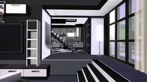 the sims 3 modern interior design youtube the sims 3 modern house gray scale for couples hd