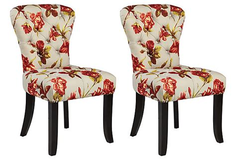 floral dining room chairs red floral upholstered chair dining chairs design ideas
