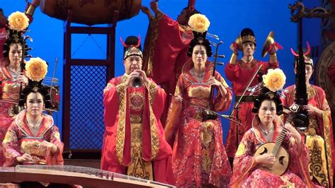 new year song 2009 in china tang dynasty and show xi an china