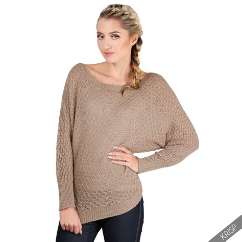oversized knit pullover womens glitter knit oversize batwing jumpers casual