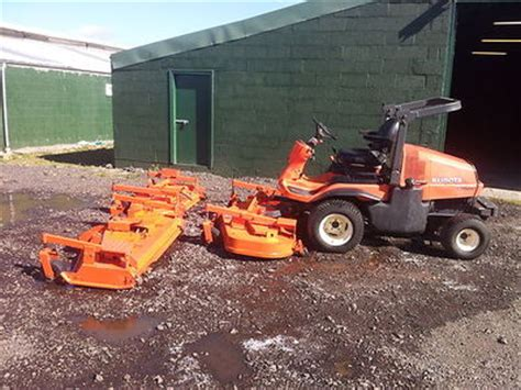 kubota  commercial ride  mower   cutting