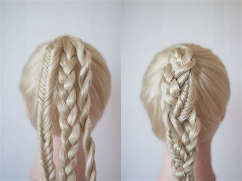 types of pony tail with a roll braided ponytails cute girls hairstyles
