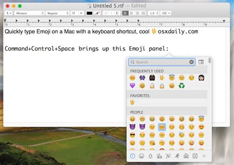 emoji mac how to quickly type emoji on mac with a keyboard shortcut