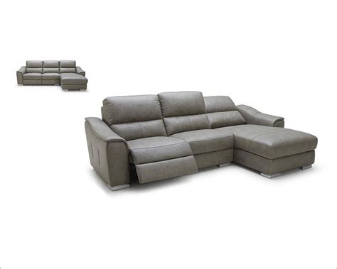modern sectional with recliner modern leather recliner sectional sofa 44l5987