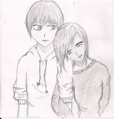 www easy easy pencil couple drawing ideas anime simple couples