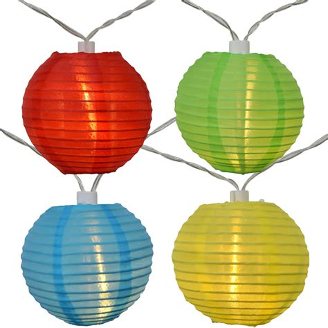solar lantern string lights led solar powered multi colored lantern string lights