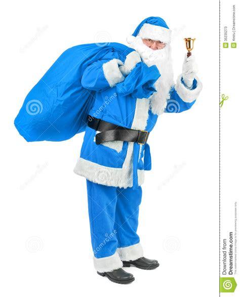 imagenes santa claus azul le p 232 re no 235 l bleu avec la cloche sur le blanc photos stock