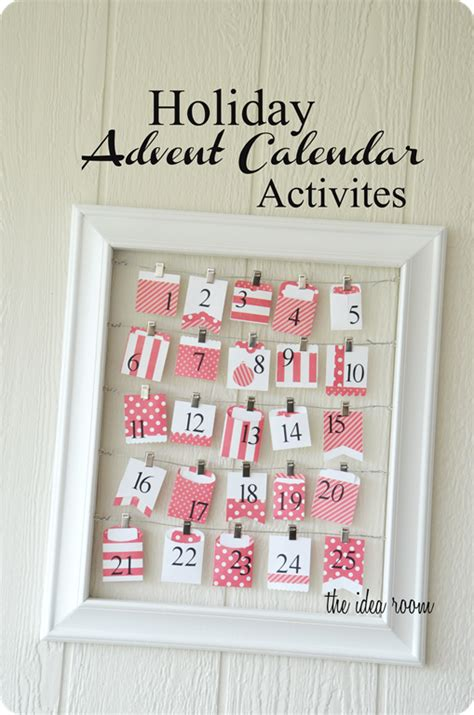 holiday advent calendar activities the idea room