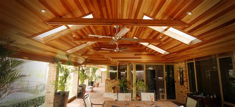 Timber Patio by Cedar Lined Timber Patio