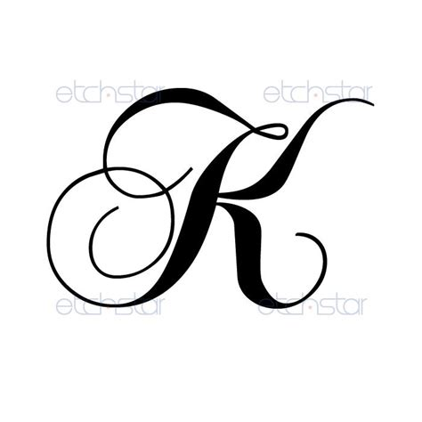 letter k tattoo designs