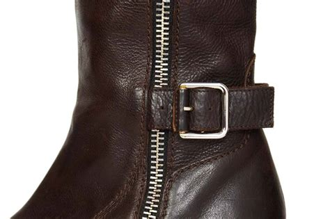 chanel brown leather boots sz 38 at 1stdibs