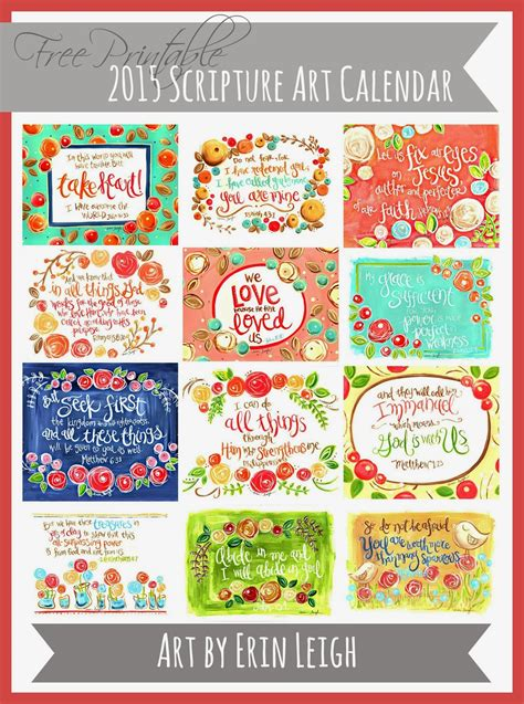 printable art calendar art by erin leigh free printable 2015 scripture art