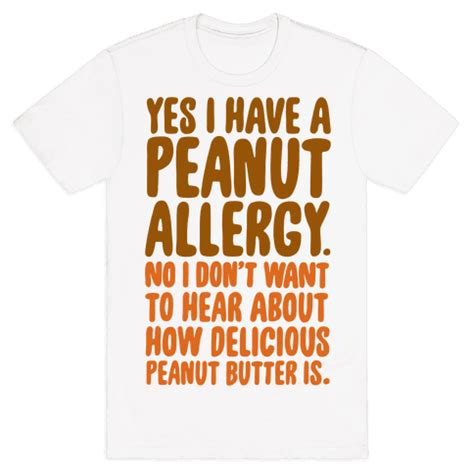 human peanut allergy clothing tee