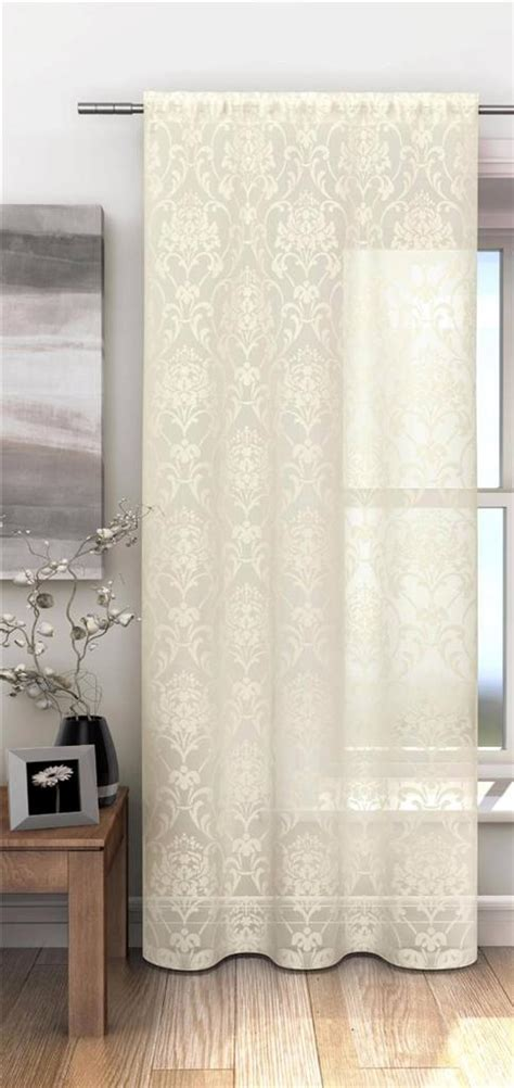 pattern net curtains chelsea burn out damask pattern voile net curtain panel