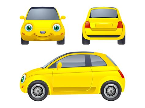cars characters drawings cartoon car character vector art graphics freevector com