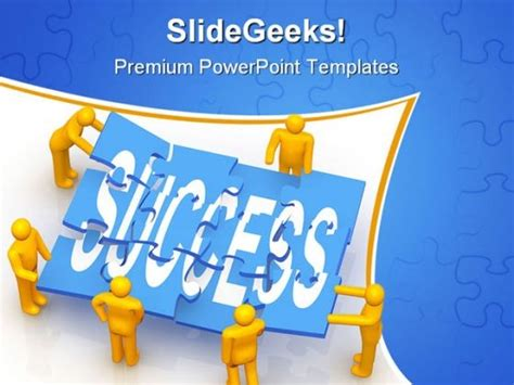 success teamwork powerpoint template 0610 powerpoint themes