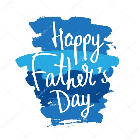 happy fathers day calligraphy stock vector  chekat