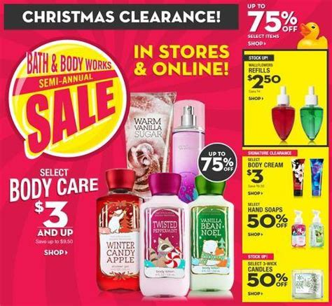 bath and body works after christmas sale