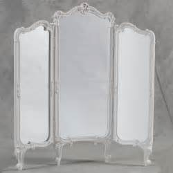 Dressing Screen Room Divider Shabby Chic 3 Fold Dressing Mirror Room Divider Screen Antique Ebay