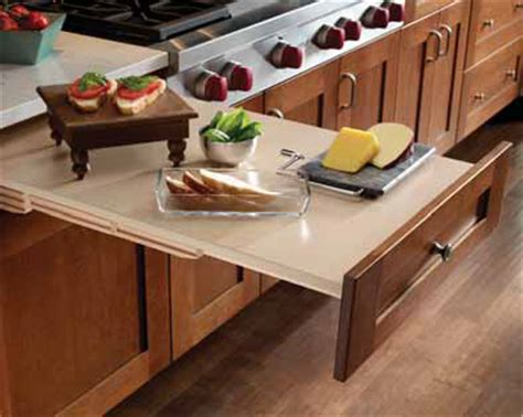 Pull Out Countertop by Pull Out Cutting Board New Horizon Cabinetry