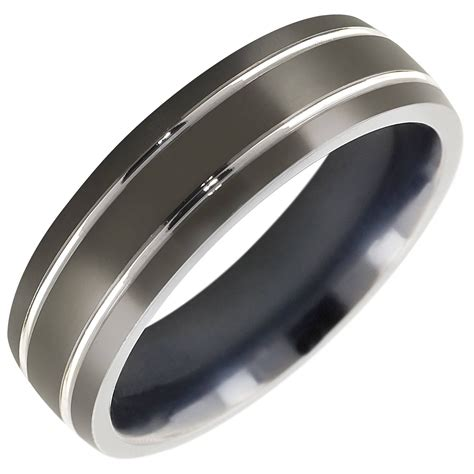 15 best ideas of black titanium wedding bands for