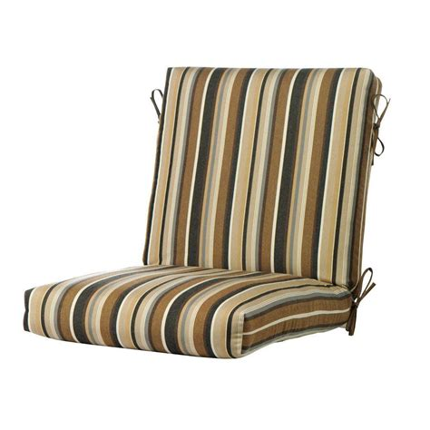 Dining Chair Seat Cushions Hton Bay Green Stripe Rapid Deluxe Outdoor Dining Chair Cushion 2 Pack 7719 02003100