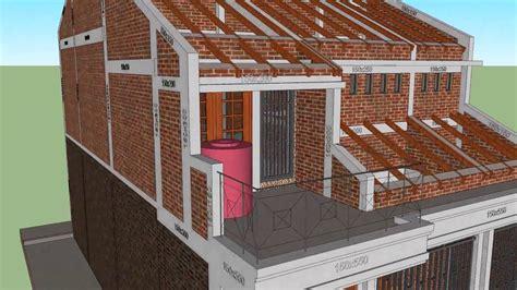 renovasi rumah type  tampak arsitek  strukturnya