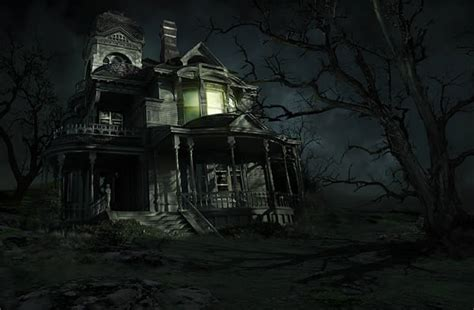 set the scene for a haunted mansion halloween party create a sinister haunted house in photoshop