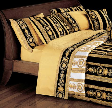 gold pattern sheet set versace medusa queen size black bed duvet cover sheet