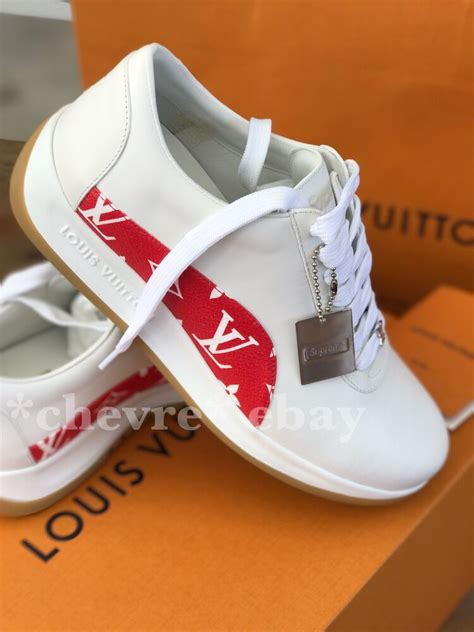 supreme clothing shoes authentic supreme x louis vuitton sneakers uk 6 5 lv