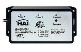 hai home automation 39a00 3 upb three phase repeater