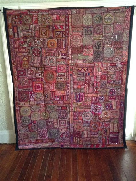 details about antique indian patchwork tapestry 6x7