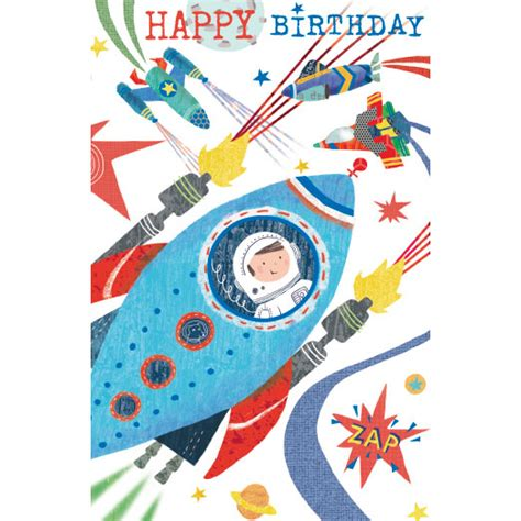 Rocket Card Template by Rocket Ship Birthday Card Greeting Cards B M Stores