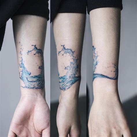 tattoos on scars scar cover on a water splash on the left inner