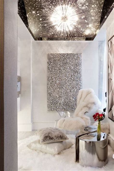 glitter home decor 20 interiors in silver interior for life