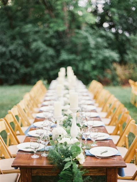 picture of stunning greenery wedding table runners 36
