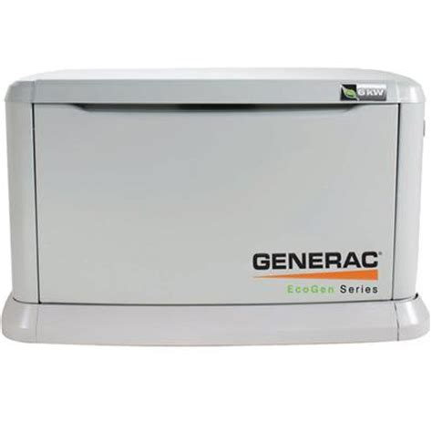 generac eco 6kw lp air cooled standby generator steel