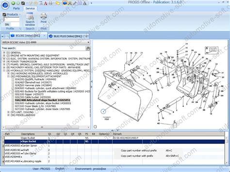 volvo prosis 2015 parts catalog service repair manuals