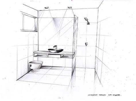 bathroom sketch east brighton interior design synposis destination living