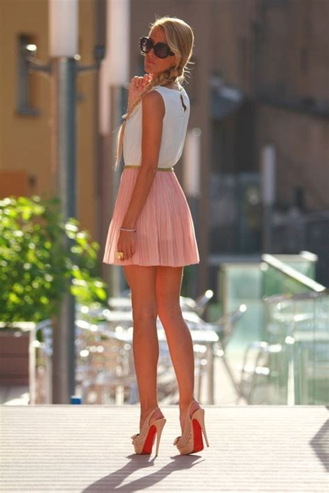 short peachy pleated skirt pictures   images