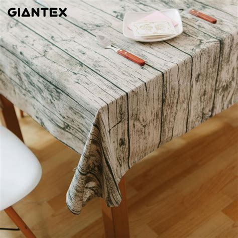 wood grain table runner giantex wood grain pattern decorative table cloth cotton