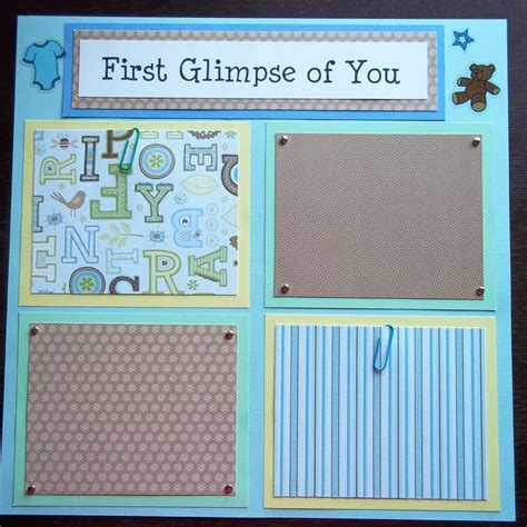 scrapbook layout templates 12x12 set of 30 12x12 premade scrapbook pages baby boy s by
